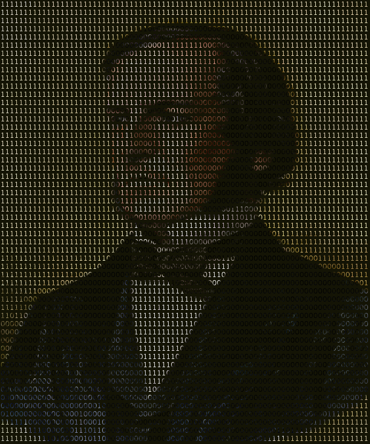 George Boole in binary ascii