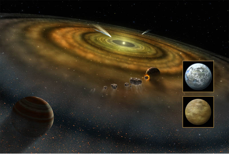 Artist's conception of planet formation