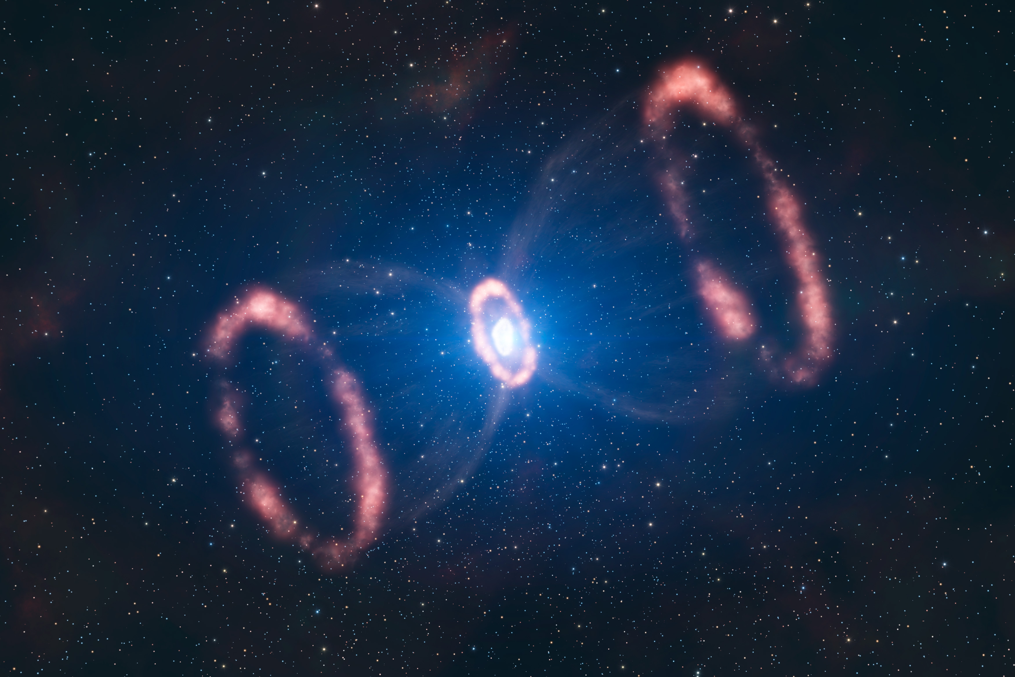 The remnants of a supernova found in 1987